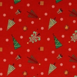 HOLIDAY TREES RED