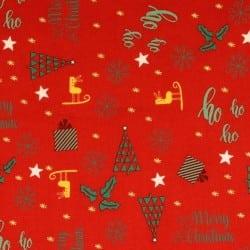 MERRY CHRISTMAS - HO HO RED
