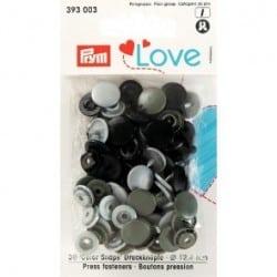 Πλαστικά κουμπώματα Μαύρο - Ασημί - Πετρολ Σκουρο