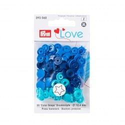 Πλαστικά κουμπώματα Αστεράκι μπλε - τυρκουαζ - navy