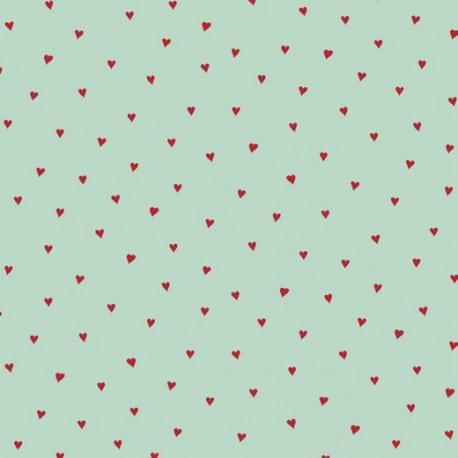 HEARTS MINT-RED