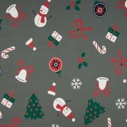 GLITTER CHRISTMAS TIME GREY ΖΕΡΣΕΪ