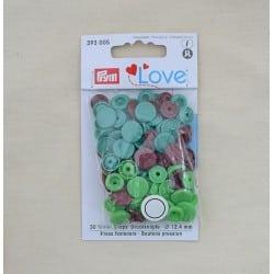 Πλαστικά κουμπώματα Πράσινο - Καφέ - Πετρόλ