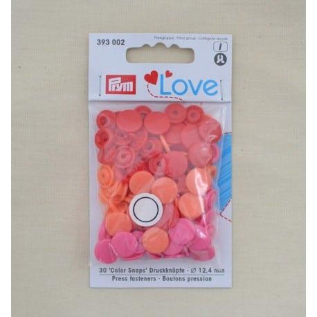 Πλαστικά κουμπώματα Κόκκινο - Πορτοκαλί - Φούξια