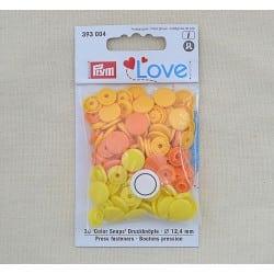 Πλαστικά κουμπώματα Πορτοκάλι - Κίτρινο